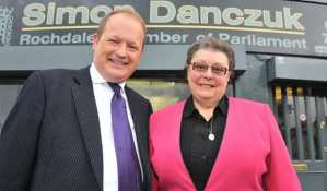 Simon Danczuk and Gillian Duffy at the MPs Rochdale Constituency Office
